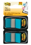 POST IT FLAGS 680BB2 TWIN PACK BRIGHT BLUE 100