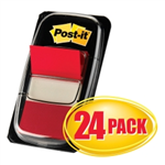 FLAGS POSTIT 680124CP CABINET PACK RED BX24