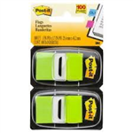 POST IT FLAGS 680BG2 TWIN PACK BRIGHT GREEN 100
